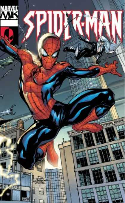 Bestselling Comics (2007) - Marvel Knights Spider-Man by Mark Millar - Sider Man - Marvel - Web - Supergirl - Buildings