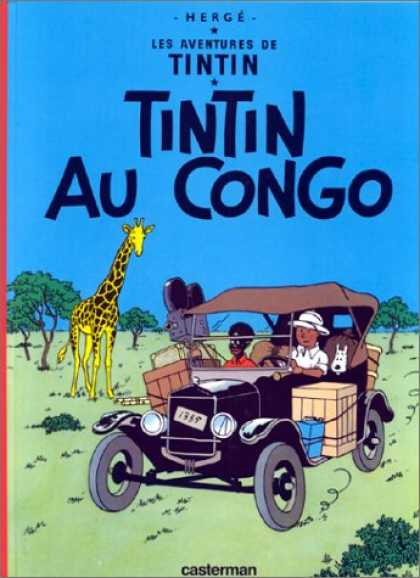 Bestselling Comics (2007) - Tintin Au Congo (Book is NOT Bilingual) (Tintin) by Herge - One Animal - Jeep - One Boy - Hat - One Box