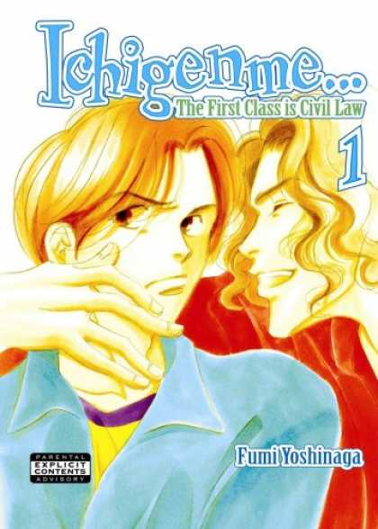 Bestselling Comics (2007) - Ichigenme...The First Class Is Civil Law Volume 1(Yaoi) by Fumi Yoshinaga - Fumi Yoshinaga - Laughter - Grimace - Hand - Mouth