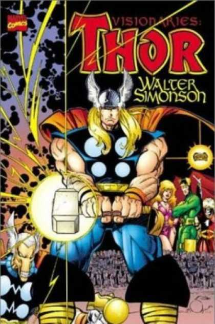 Bestselling Comics (2007) - Thor Visionaries - Walt Simonson, Vol. 1 by Walt Simonson - Hammer - Thor - Orange Cape - Winged Helmet - Muscles