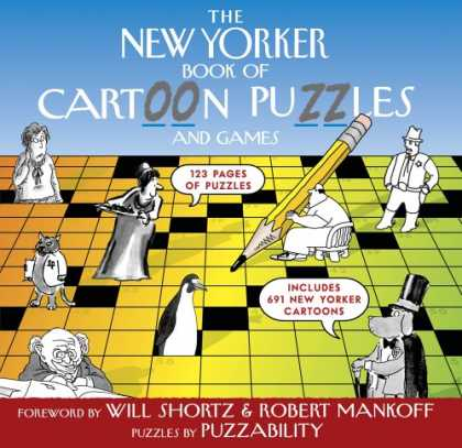 Bestselling Comics (2007) - The New Yorker Book of Cartoon Puzzles and Games (New Yorker) by Puzzability - The New Yorker - Cartoons - Puzzles - Pencil - Crosswords