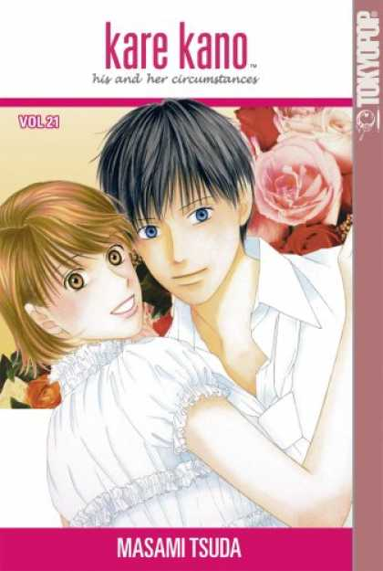 Bestselling Comics (2007) - Kare Kano: His and Her Circumstances, Vol. 21 by Masami Tsuda - Roses - Man - Woman - Red - Leaves