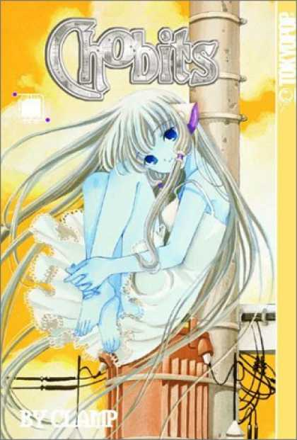 Bestselling Comics (2007) - Chobits, Volume 1 by Clamp - Chobits - Girl - Electric Pole - Blue Eyes - White Dress