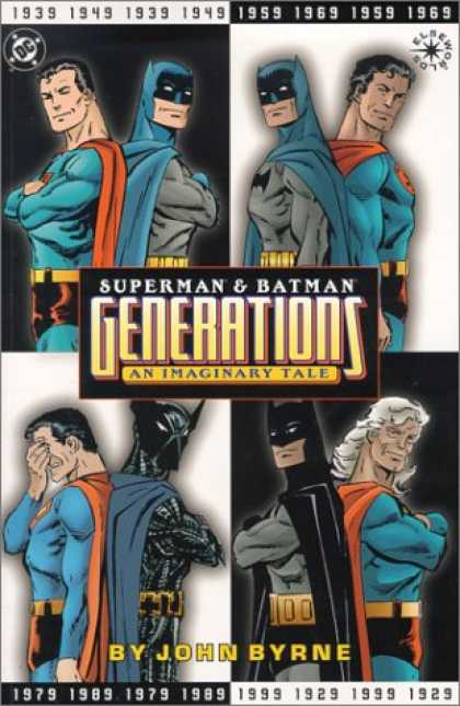 Bestselling Comics (2007) - Superman & Batman: Generations, An Imaginary Tale (Elseworlds) by John A. Byrne - John Byrne - An Imaginary Tale - Elseworlds - Black And White - Back To Back