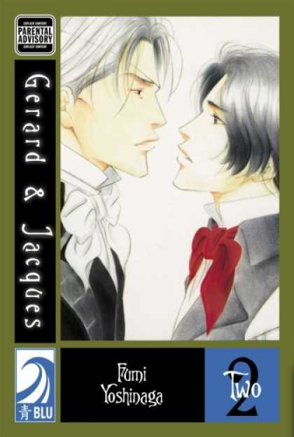 Bestselling Comics (2007) - Gerard & Jacques Volume 2: (Yaoi) by Fumi Yoshinaga - Parental Advisory - Gerard And Jacques - Two Guys - Two 2 - Red Bow Tie