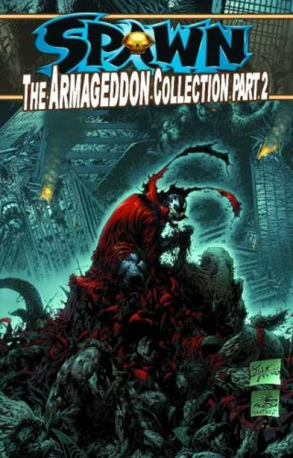 Bestselling Comics (2007) - Spawn: The Armageddon Collection Part 2 (Spawn) by Todd McFarlane - Buildings - Part 2 - Explosion - Red - Lights