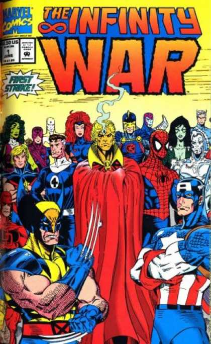 Bestselling Comics (2007) - Infinity War (Marvel Comics) by Jim Starlin - The Infinity War - Captain America - Spiderman - Wolverine - First Strike