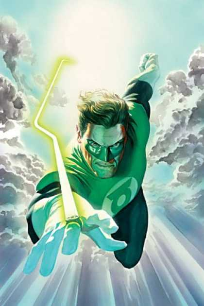 Bestselling Comics (2007) - Green Lantern Vol. 1: No Fear by Geoff Johns - Superman - Mask - Light - Flying - Fingers