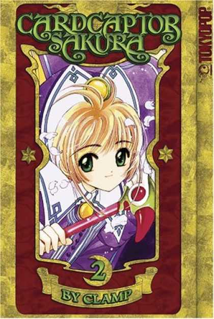 Bestselling Comics (2007) - Cardcaptor Sakura 100% Authentic Manga Vol 2 by Clamp - Wand - Japanese Animation - Green Eyes - Anime - Purple Clothes