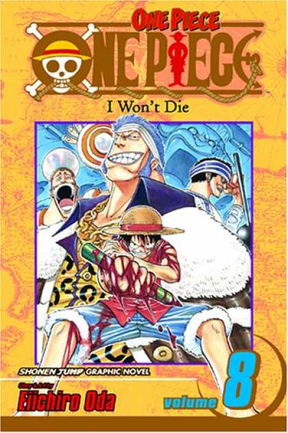 Bestselling Comics (2007) - One Piece, Vol. 8: I Won't Die - Skull - Crossbones - Boy - Pencil - Blood