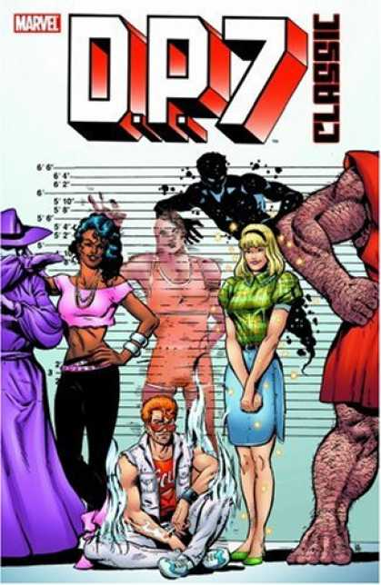 Bestselling Comics (2007) - D.P. 7 Classic Volume 1 TPB by Mark Gruenwald - One Stong Men - One Hat - One Ghost - Two Girls - One Young Man Is Sitting