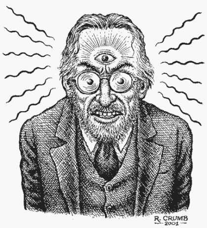 Bestselling Comics (2007) - Hans-Ulrich Obrist & Robert Crumb: The Conversation Series (The Conversation) by - Man - Eye - Waves - R Crumb - Suit