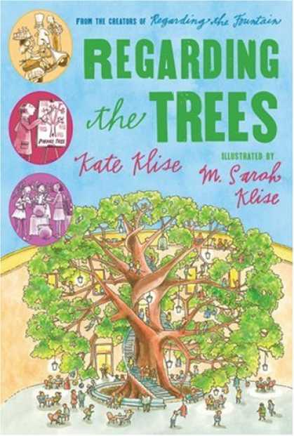 Bestselling Comics (2007) - Regarding the Trees: A Splintered Saga Rooted in Secrets (Regarding the . . .) b - Regarding Trees - Kate Klise - Giant Tree House - Stairway Up Trunk - Lamps Hanging From Branches