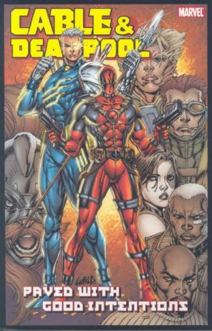 Bestselling Comics (2007) - Cable & Deadpool Volume 6: Paved With Good Intentions TPB (Cable & Deadpool) by - Man - Guy - Phrase - Hair - Wall