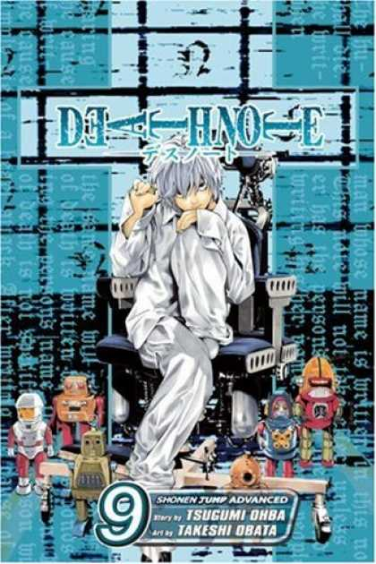 Bestselling Comics (2007) - Death Note, Volume 9 by Tsugumi Ohba - Robots - Chair - Pajamas - Anime - Silver Hair