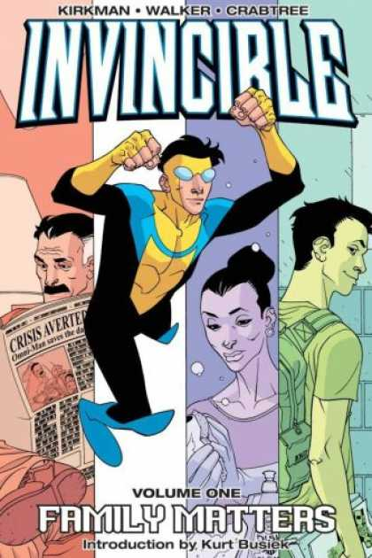 Bestselling Comics (2007) - Invincible Volume 1: Family Matters New Printing (Invincible) by Robert Kirkman - Newspaper - Kirkman - Walker - Crabtree - Family