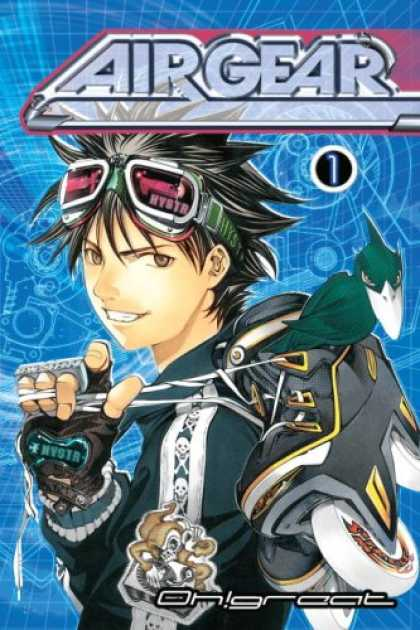 Bestselling Comics (2007) - Air Gear 1 (Airgear) by Oh!Great - Airgear - Glasses - Manga Boy - Bird - Ohgreat
