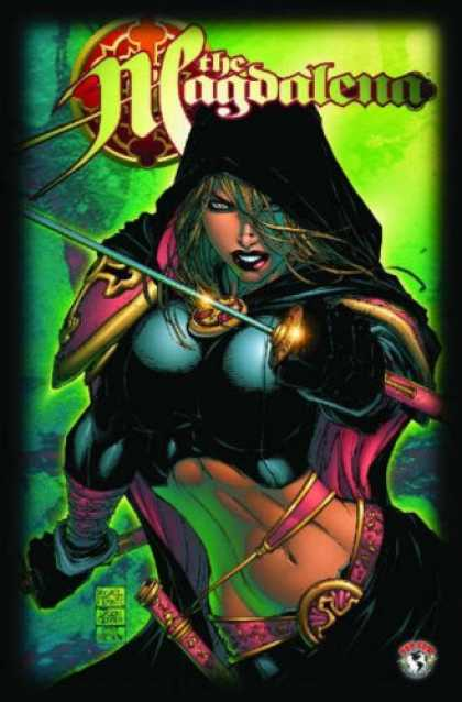 Bestselling Comics (2007) - Magdalena Volume 1 by David Wohl - Sword - Female - Magenta Armor - Black Cape - Greenish Background