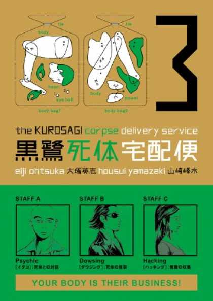 Bestselling Comics (2007) - The Kurosagi Corpse Delivery Service, Volume 3 by Eiji Ohtsuka - Human Parts - Corpse Delivery Service - Staff - Your Body Is Their Business - Diagram