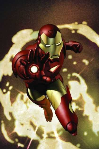 Bestselling Comics (2007) - Iron Man Vol. 1: Extremis by Warren Ellis - Iron Man - Flying - Iron Man Fights Evil - Maroon And Gold - Iron Man Fights Back