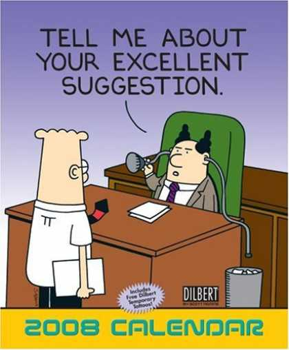 Bestselling Comics (2007) - Dilbert: 2008 Wall Calendar by Scott Adams - Men - Table - Applicant - Paper - Cartoon