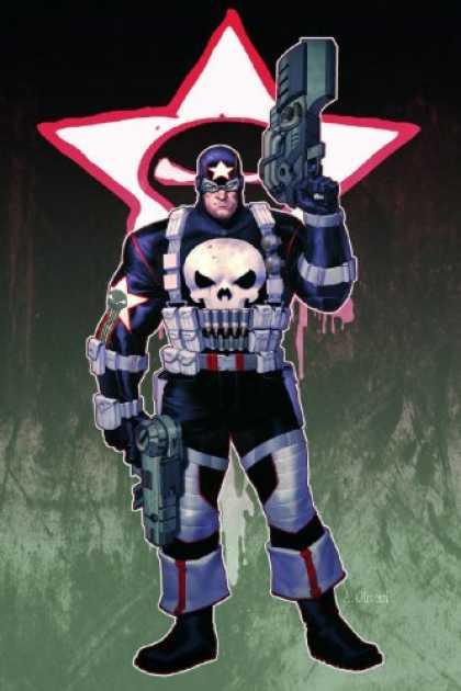 Bestselling Comics (2007) - Punisher War Journal Volume 2: Goin' Out West Premiere HC (Punisher) by Matt Fra - Gun - Soldier - Costume - Star - Muscules
