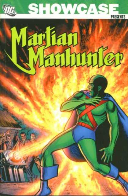 Bestselling Comics (2007) - Showcase Presents: Martian Manhunter, Vol. 1 by Jack Miller - Blue Cape And Boots - Fiery Blast - Several Men - Green Skin - Machine Ray