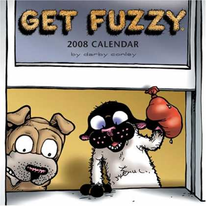 Bestselling Comics (2007) - Get Fuzzy: 2008 Mini Wall Calendar by Darby Conley - Get Fuzzy - 2008 Calender - Darby Conley - Dog - Cat