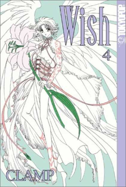 Bestselling Comics (2007) - Wish, Vol. 4 by Clamp - Angelic - Beautiful - Flying - White Light - Wings
