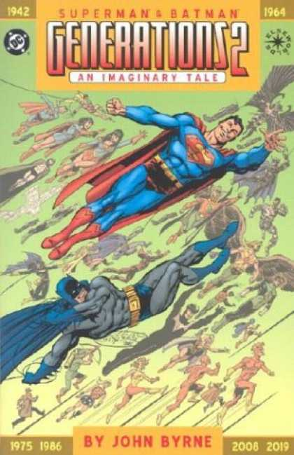 Bestselling Comics (2007) - Superman & Batman: Generations 2, An Imaginary Tale (Elseworlds) by John A. Byrn - Superman - 1942- 1964 - Generationsd2 - By John Byrne - 1975 - 1986 2008-2019