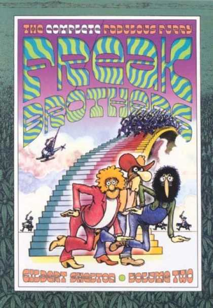 Bestselling Comics (2007) - The Complete Fabulous Furry Freak Brothers: Volume 2 (Complete Fabulous Furry Fr - Helicopter - Cowboys - 1970s - Army - Chase