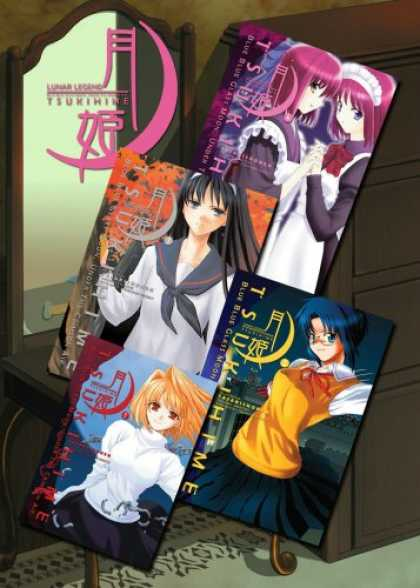 Bestselling Comics (2007) - Lunar Legend Tsukihime Volume 1-4 Set by Type-Moon - Girl - Cabinet - Book - Frame - Mirror