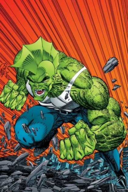 Bestselling Comics (2007) - Savage Dragon Archives Volume 1 (Savage Dragon Archives) by Erik Larsen - Green Man - Monster - Muscles - Stones - Fist