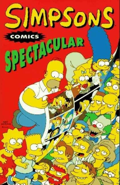 Bestselling Comics (2007) - Simpsons Comics Spectacular by Matt Groening - Eyes - Man - Lady - Faces - Poster