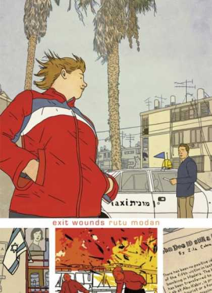Bestselling Comics (2007) - Exit Wounds by Rutu Modan - Exit Wounds - Rutu Modan - Bomb Blast - Waiting Car - Israel Flag