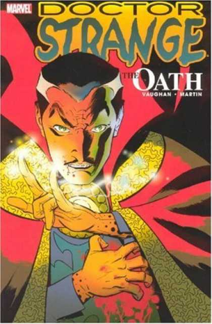 Bestselling Comics (2007) - Doctor Strange: The Oath (New Avengers) by Brian K. Vaughan - Vampire - Widows Peak - Shiny - Glowing - Golden