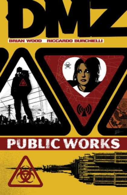 Bestselling Comics (2007) - DMZ Vol. 3: Public Works by Brian Wood - Towers - Masked Men - Women - Danger - Network
