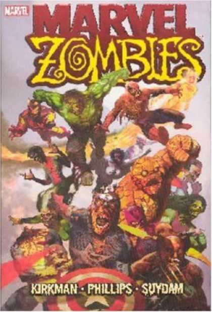 Bestselling Comics (2007) - Marvel Zombies by Robert Kirkman - Kirkman - Phillips - Hulk - The Thing - Captain America