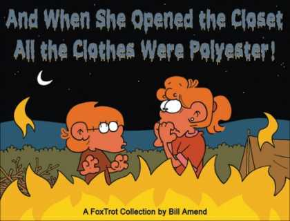 Bestselling Comics (2007) - And When She Opened the Closet, All the Clothes Were Polyest: A FoxTrot Collecti - Campfire - Tent - Camping - Scary Stories - Moon