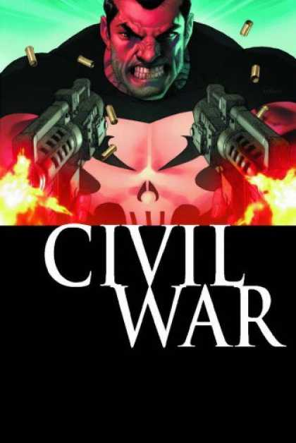Bestselling Comics (2007) - Punisher War Journal Vol. 1: Civil War by Matt Fraction - Civil War - Skull Shirt - Bullets - Guns - Gun Fire