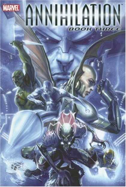 Bestselling Comics (2007) - Annihilation, Book 3 (Marvel Comics) by Keith Giffen - Marvel - Annihilation Book Three - Cyborg - Silver Surfer - Knife