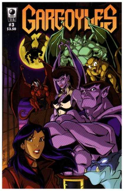 Bestselling Comics (2007) - Gargoyles #3 by Greg Weisman - Gargoyles - Superlady - Slg Part 3 - Night Riders - Adventure In Night