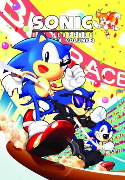 Bestselling Comics (2007) - Sonic The Hedgehog Archives Volume 3 (Sonic the Hedgehog Archives) by Mike Galla - Race - Sunglasses - Hedgehog - Fox - Fans