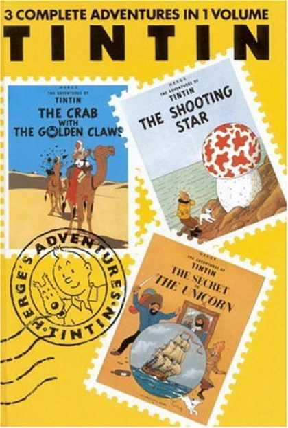 Bestselling Comics (2007) - The Adventures of Tintin: The Crab With the Golden Claws / The Shooting Star / T - Tin Tin - The Adventures Of Tintin - The Shooting Star - The Crab With The Golden Claw - The Secret Of The Unicorn