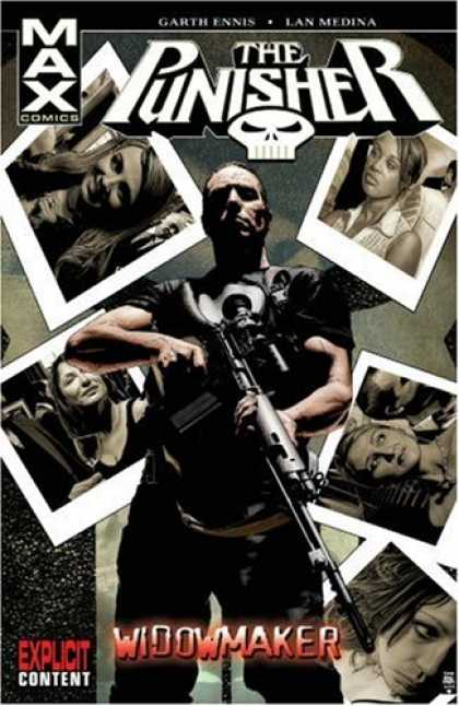Bestselling Comics (2007) - Punisher MAX Vol. 8: Widowmaker by Garth Ennis - Skull - Widowmaker - Women - Gun - Explicit Content