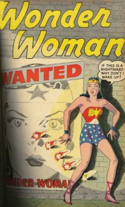 Bestselling Comics (2007) - Showcase Presents: Wonder Woman, Vol. 1 by Robert Kanigher - Poster - Wanted - Nightware - Wake Up - Gunfire