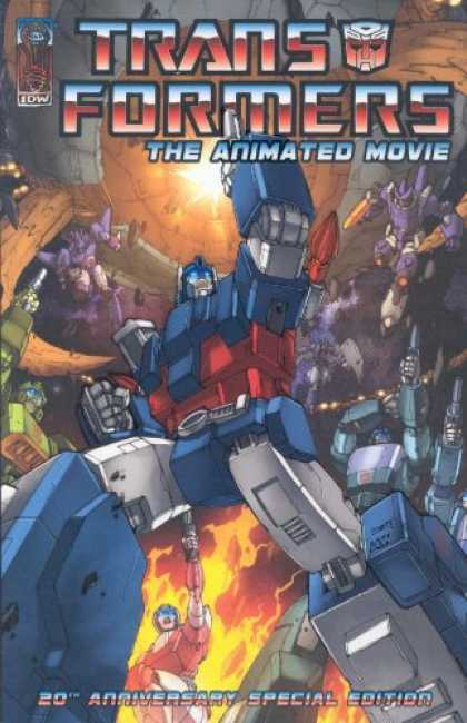 Bestselling Comics (2007) - The Transformers: Animated Movie Adaptation (Transformers) by Bob Budiansky - Transformers - The Animated Movie - 20th Anniversary Special Edition - Optimus Prime - Galvatron