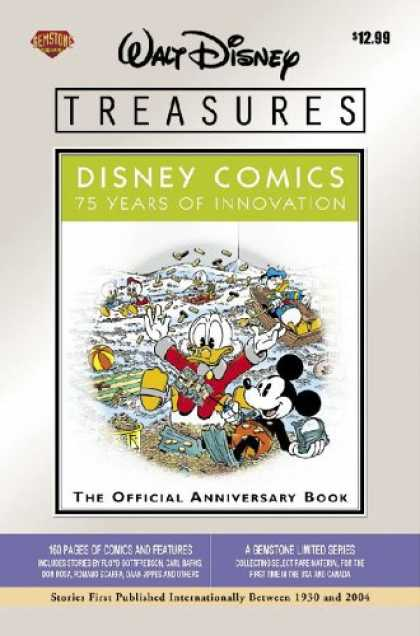 Bestselling Comics (2007) - Walt Disney Treasures - Disney Comics: 75 Years of Innovation by Floyd Gottfreds - Disney - Donald - Mickey - Anniversary - Gemstone
