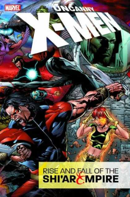 Bestselling Comics (2007) - Uncanny X-Men: Rise & Fall of the Shi'ar Empire by Ed Brubaker - Uncanny X-men - Rise And Fall - Rise And Fall Of The Shiar Empire - God My Head Hurts - Armageddon