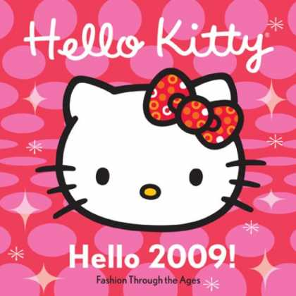 Bestselling Comics (2008) - Hello Kitty Hello 2009! Fashion Through the Ages: Mini Wall Calendar by Abrams - Cat - White - Bow - Sparkles - Pink